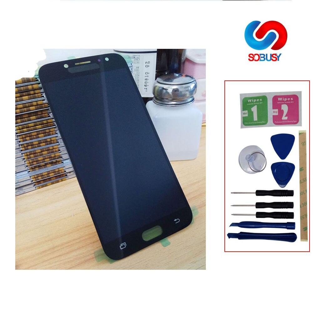 J730 lcd Pode Ajustar O Brilho da tela Para SAMSUNG Galaxy J7 Pro J730 J730F LCD Display Touch Montagem Digitador Da Tela Substituir