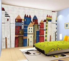 beibehang Custom Photo Wallpaper Rose 3D Mural Kids Room Colorful Castle papel de parede 3d bedroom wallpaper behang