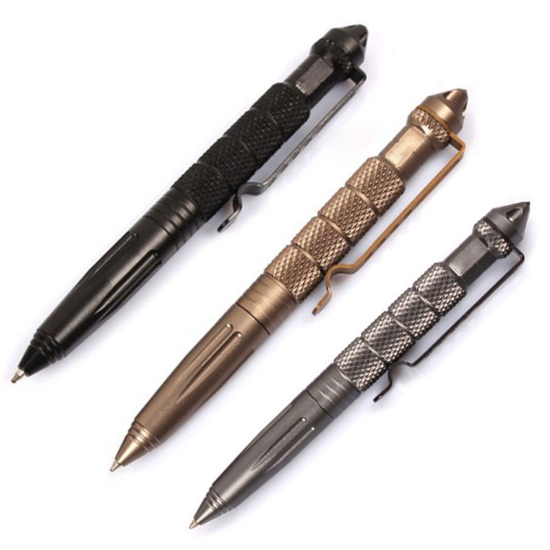 Tactical Pen Self Defense Cooyoo Aviation Aluminium Anti-Slid Portable Tool för resor Camping Vandring
