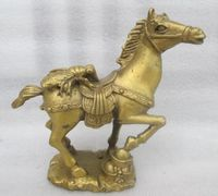 China' copper old manual hammer lucky cicada the statue of a horse