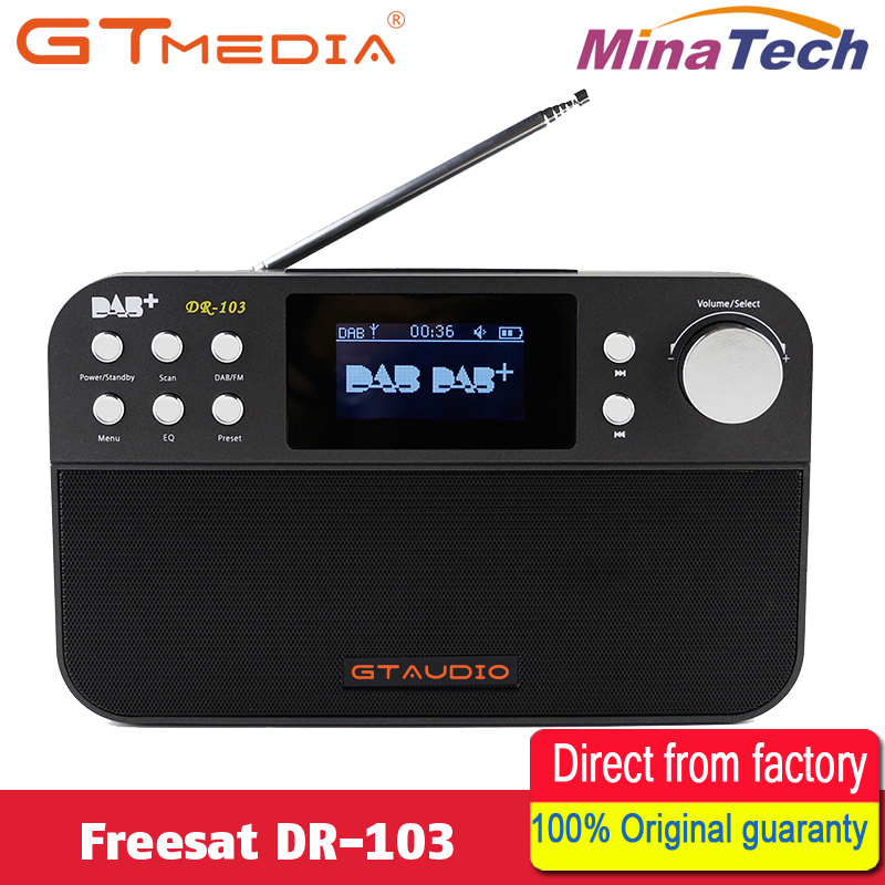 GTMEDIA DR-103B DAB Receiver Portable Digital DAB FM Stereo Radio Receptor With 2.4 Inch TFT Color Display Alarm Clock old version degen de1103 1 0 ssb pll fm stereo sw mw lw dual conversion digital world band radio receiver de 1103 free shipping