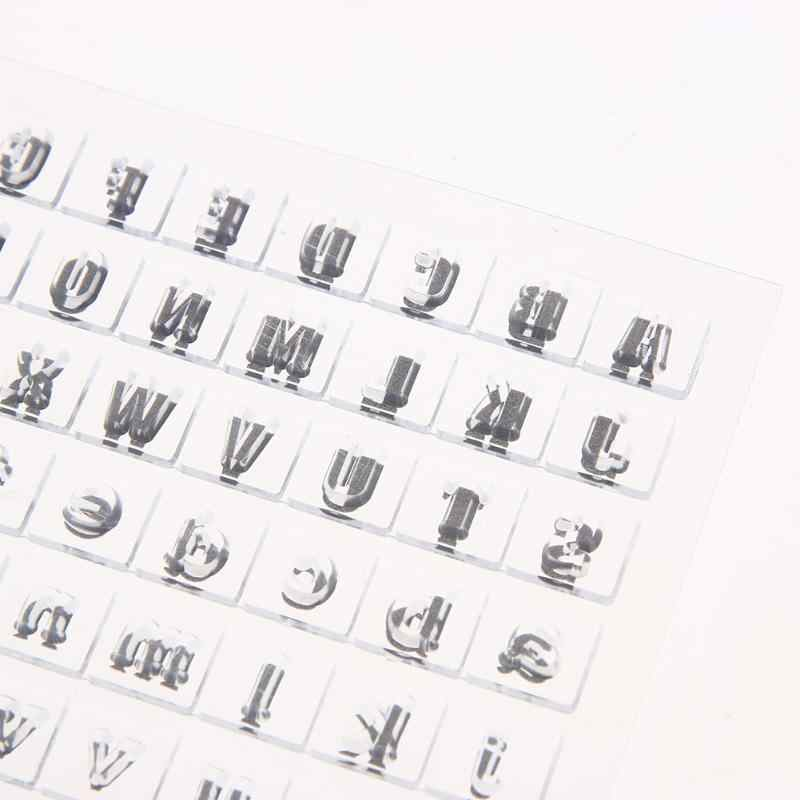 Número e Letra Em Inglês Selos de Silicone transparente Claro para DIY Fazer Scrapbooking/Cartão/Crianças Artesanato Decoração Divertida