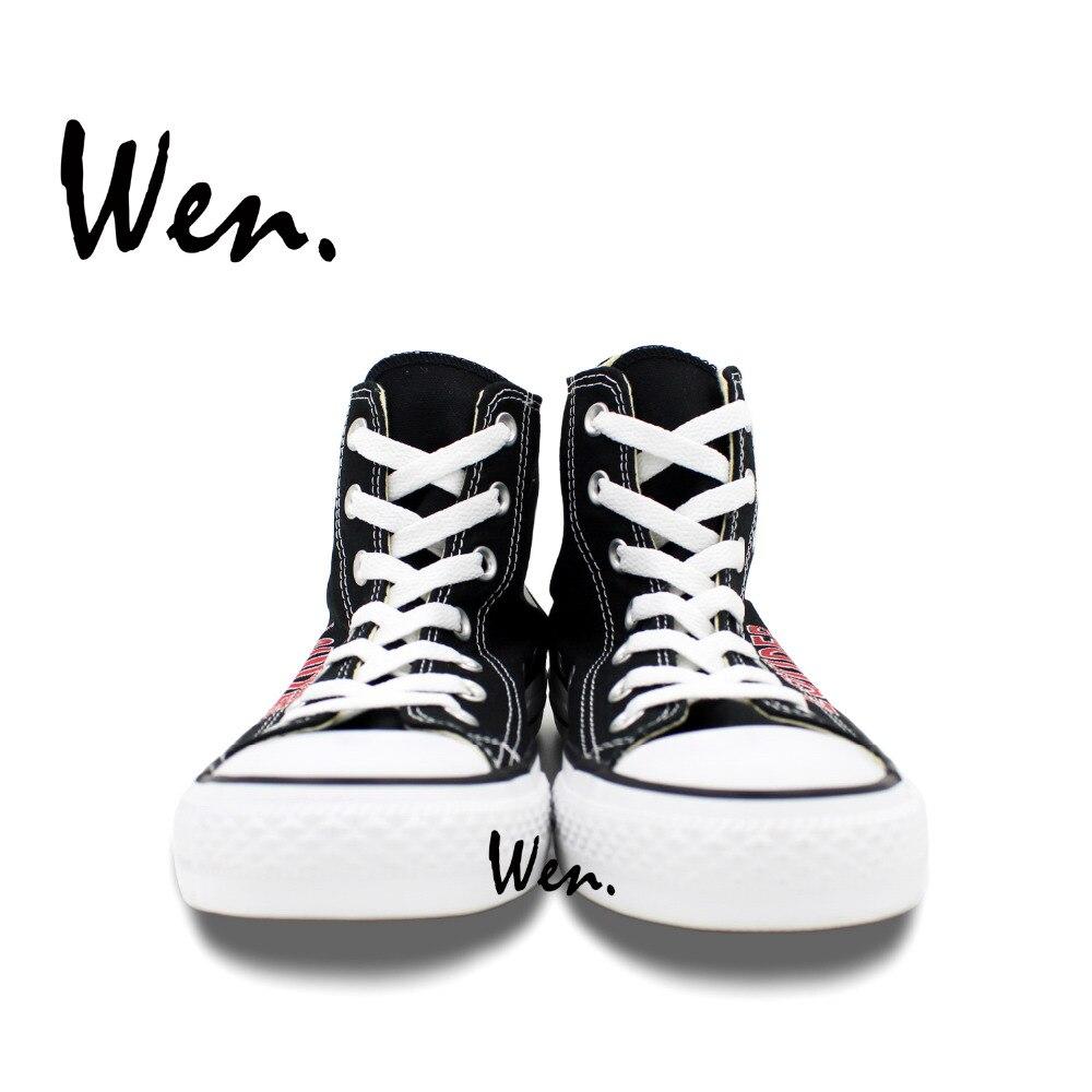 Wen dizajn Custom ručno oslikane cipele glasnije R5 Logo Muškarci - Tenisice - Foto 4