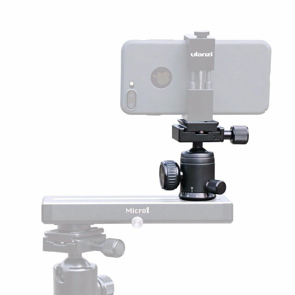Ulanzi Professionnel Caméra Vidéo Trépied Tête Rotule Joby avec Quick Release Plate Pour iPhone Smartphone DSLR Caméra Monopode
