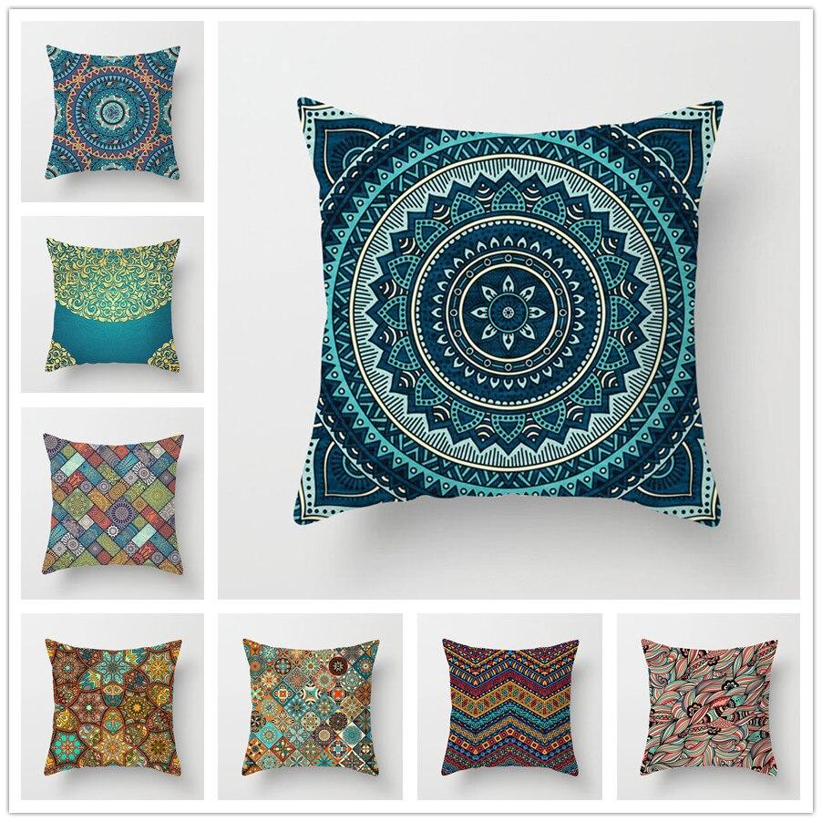 45x45 Pillowcase Square Pillow Cover Cushion Case Toss Hidden Zipper Closure Pillows Pattern For Bedroom  Living Room 005-1