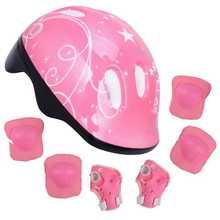 7Pcs/Set Kid Roller Skating Skateboard Adjustable Elbow Knee Pads Wrist Protective Outdoor Sports Safety Guard Helmet