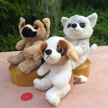 new arrival lovely dog soft plush toy,17cm sitting Shepherd ,husky, beagle dog doll baby toy home decoration birthday gift h2950