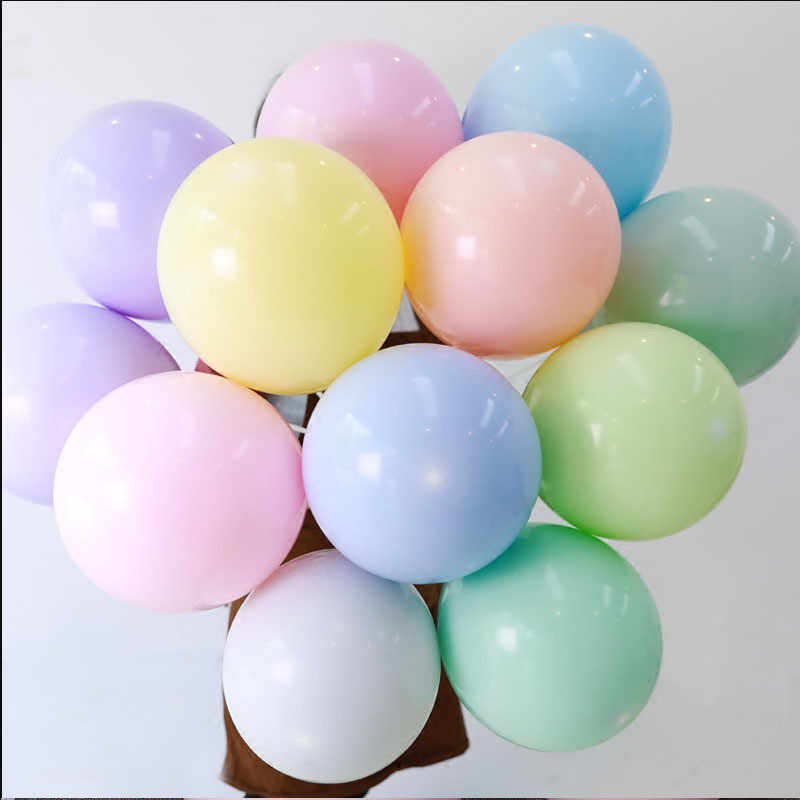 10pcs 12inch Baloon Valentine's Day Party Balloons Arch Baby Shower Girl Macaron Latex Balloon Foil Ballons Decoration Birthday