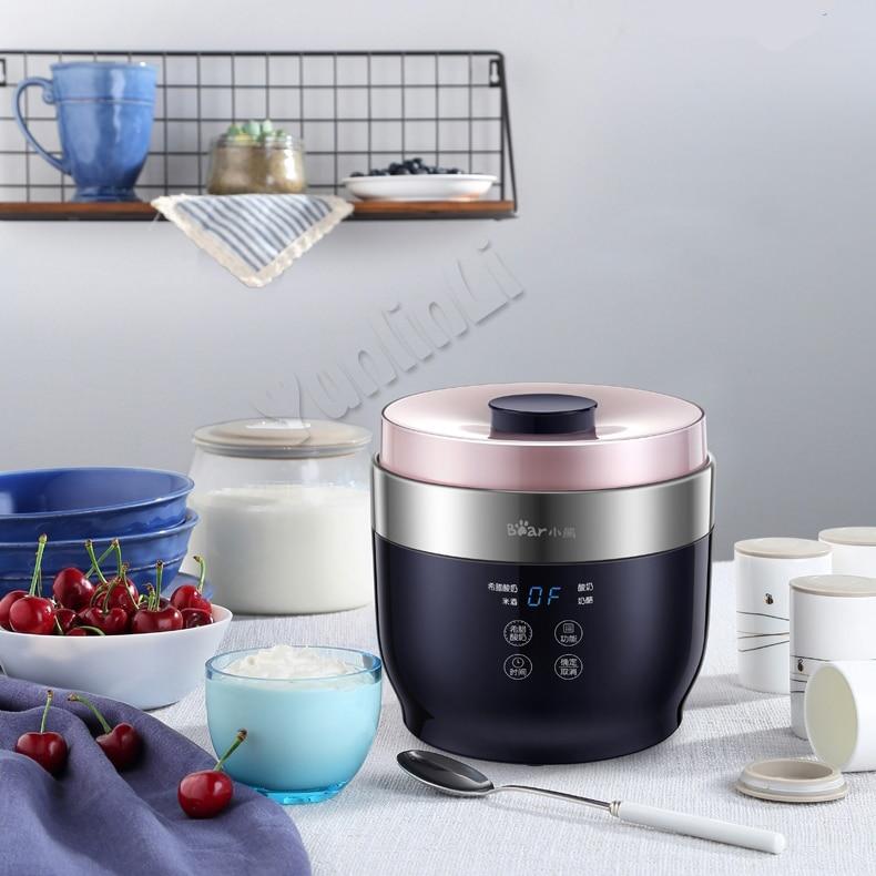 1L Intelligent Yogurt Machine Household Automatic Yogurt Maker DIY Rice Wine/Cheese Yogurt Machine SNJ-C10T1 цена