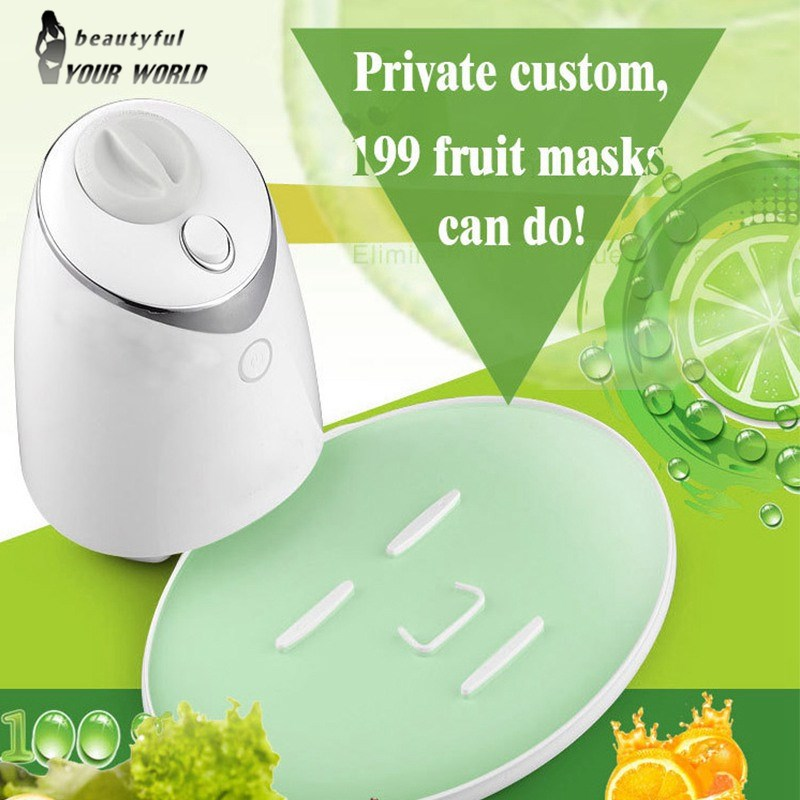 Face Mask Maker Machine Facial Treatment DIY Automatic Fruit Natural Vegetable Collagen Home Use Beauty Salon SPA Care Eng Voice diy natural face mask machine automatic fruit facial mask maker vegetable collagen mask english voice machine face skin care