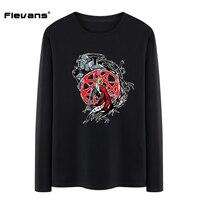 Flevans Fresco Fullmetal Alchemist Edward de Impresión Camisetas para Hombres Elric Otoño Hombre Tapas de la Ropa de Los Hombres Ropa Casual de La Camiseta 100% algodón