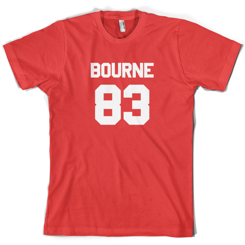 Bourne 83 Mens T Shirt James Tour Free UK P amp P Print T Shirt Mens Short Sleeve Hot Tops Tshirt Homme freeshipping in T Shirts from Men 39 s Clothing