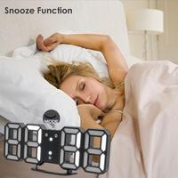 33 Color Digital LED Table Night Wall Clock Alarm Watch 24 Or 12 Hour Display