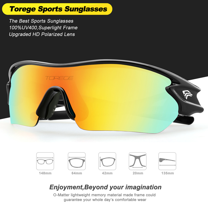 e255c924038 New Polarized Sports Sunglasses With 5 Interchangeable Lens for Men Women Cycling  Running Driving Fishing Golf Hiking Glasses-in Cycling Eyewear from Sports  ...