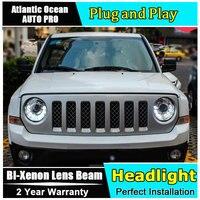 Новый головной свет Автомобильный Стайлинг для Jeep Liberty фары 2013 2015 для Jeep Liberty светодиодная фара Биксеноновая двойная линза HID led drl