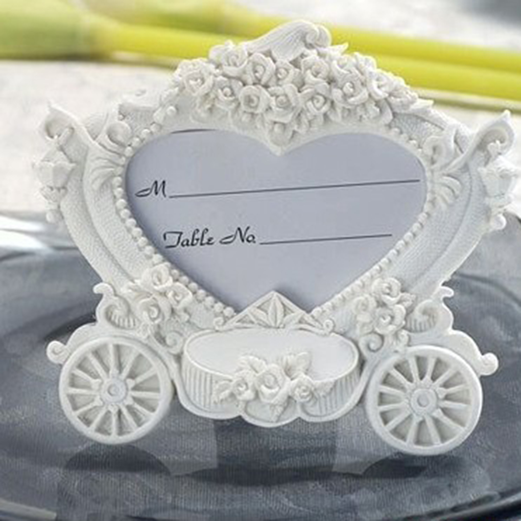 Pumpkin Cart Photo Frame Wedding Baby Kids Picture Frame Name Memo Card Holder ...