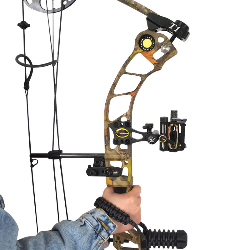 Image 5 - Archery Compound Bow 5Pin Sight CNC Aluminum Adjustable Bow Sights Camping Practicing Shooting Hunting Bow And Arrow Accessories-in Bow & Arrow from Sports & Entertainment