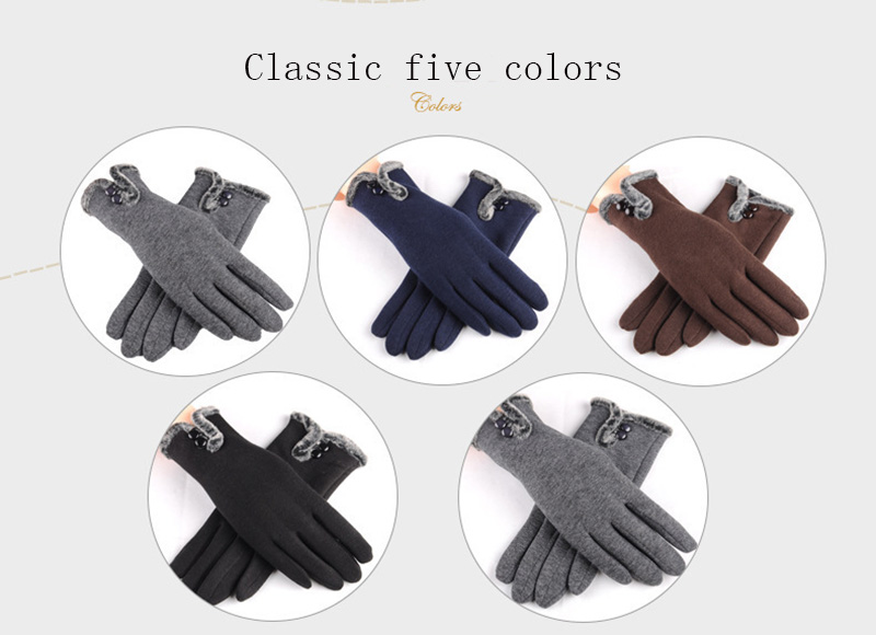 Comfortable and Warm Non Inverted Touch Screen Gloves for Women with Sensitive Touch Screen Function without Hand Exposing to Cold 17