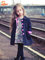 2-7 yrs New 2017 Kids Wind Coats Children Outerwear Fashion Girl Coat Vogue Trench Bowknot Long Sleeve Spring Jacket for Girls