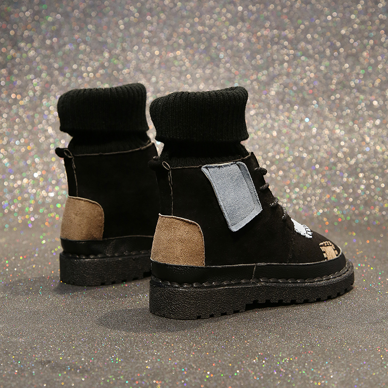 Luxury Shoes Women Designers Black Beige Winter Boots for Female Rubber Bottom Casual Shoes Women High Top Boots Brands 41