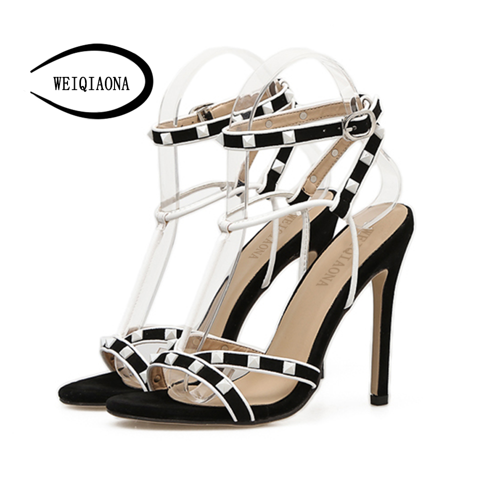 6def22a4 Aire Negro Zapatos Mujeres Moda 2018 Dulce Nueva Las Señoras Al Abierto De  rojo Fiesta Sandalia ...
