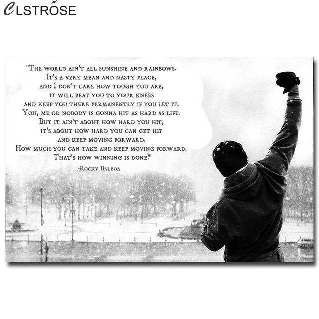 Famous Rocky Quotes Endearing Clstrose New Famous Rocky Balboa Motivational Quotes Art Canvas