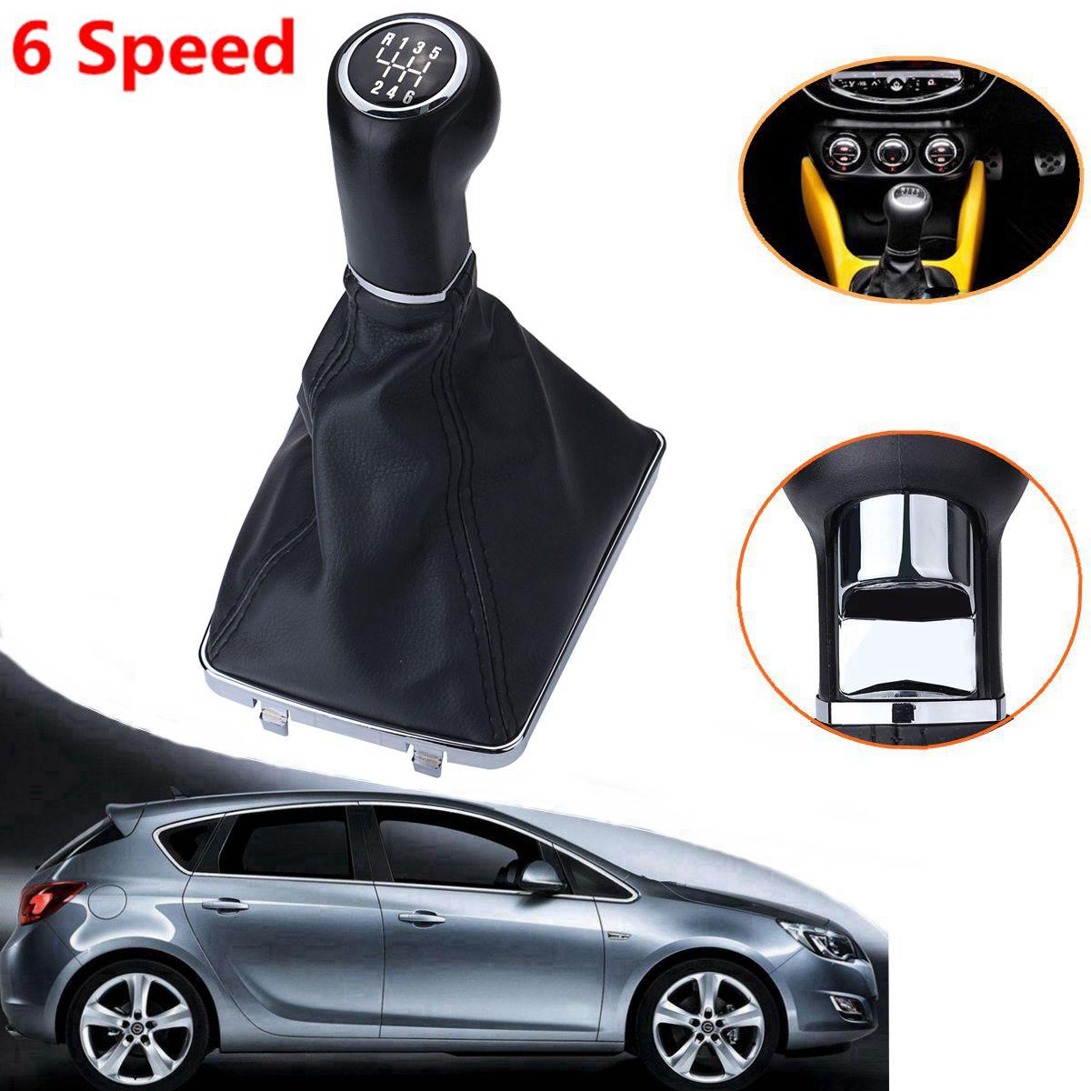 5/6 Speed Car Gear Shift Knob Lever Stick Gaiter Boot For Opel Astra Corsa GTC 2005 2006 2007 2008 2009 2010 5 speed car black gear knob chrome cap top for vauxhall opel astra iii h corsa d 04 10