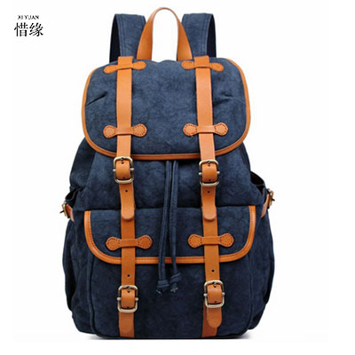 XIYUAN BRAND Backpack Men Male Canvas College Student School BLUE Backpack Casual Rucksacks Laptop Backpacks Women Mochila GIFTS brand canvas men women backpack college high middle school bags for teenager boy girls laptop travel backpacks mochila rucksacks