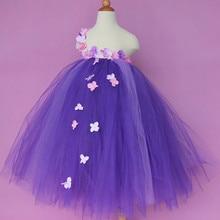 New Flower Fairy Girl Tulle Tutu Dress Baby Girl Wedding Dress Kids Birthday Party Performance Dresses For Children Ball Gowns