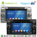 Quad Core 1024*600 Android 5.1.1 Car DVD Player Radio Stereo DAB+ 4G GPS For Ford Galaxy Fusion C-MAX S-MAX C S MAX Focus Mondeo