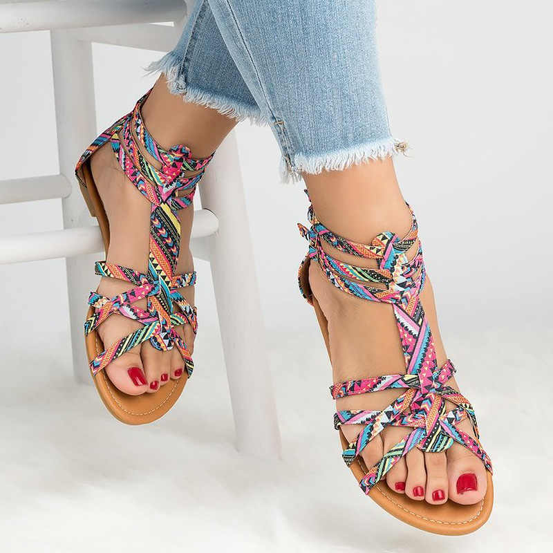 Big Size 42 43 Flat Sandal Women Summer