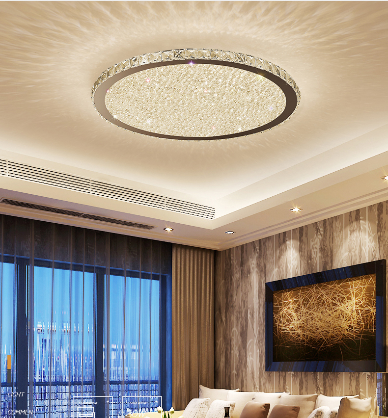 Crystal Chandelier Modern K9 Chandeliers Ceiling Plafon Lamp Light Fixtures Living Room Bedroom Dining Home Lighting