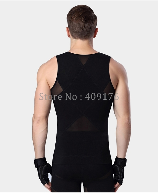 Men Shaper PRAYGER Gynecomastia Corset For Man Slimming Waist Trimmer Zipper Body Shapers Control Belly Tank Tops Abdominal Vest 3