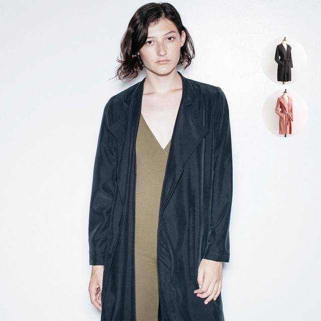 Mujeres Ligero Dylan Trenchs Vintage Breve Sólido Flojo Da Vuelta-Abajo Zanja Collar de prendas de Abrigo Largo Outwear Femme