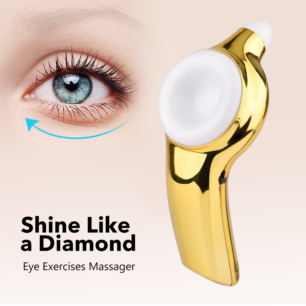 Portable Electric Vibration Eye Massager Acupuncture Massage with Eye Patch Type And Point Type Anti Aging Wrinkle Anti-fatigue healthsweet 24k gold mini massage device electric eye massager facial vibration thin face magic stick anti bag pouch wrinkle pen