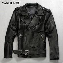 Высокое качество модные мужские панк ремень из натуральной кожи жилет Slim Fit мото для верховой езды байкерская куртка пальто на молнии итальянский дизайнер