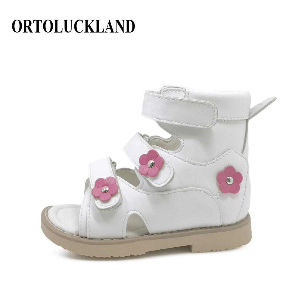 da08f88f18 Fashion girls lovely pink sport shoes children orthopedic shoes genuine  leather tennis sneakers rigid orthopedic shoes for kids