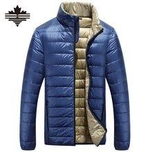 Утка сверхлегкий вниз зимняя легкий случайные куртки куртка пальто мужские осень