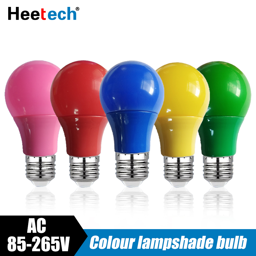 Colorful LED Bulb E27 Lamp Led Bar Light 5W 7W 9W Lamp Red Blue Green Yellow Pink Lampara Light KTV Party Home Decor Lighting