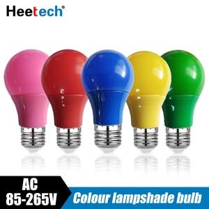 Image 1 - カラフルな LED 電球 E27 ランプ Led バーライト 5 ワット 7 ワット 9 ワットランプ赤青緑黄ピンクランパラ光 Ktv パーティー家の装飾照明