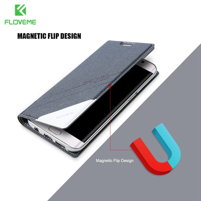 new style 6b844 ceb5b US $4.99 40% OFF|FLOVEME Flip Magnetic Case For Samsung Galaxy S8 Plus S7  S6 edge Plus S5 Luxury Leather Holster For Samsung Galaxy Note 8 5 Case-in  ...