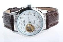 2016 ПОСЛЕДНИМ BIAOKA белый механические часы Лучший Бренд автоматические часы мужчины 100 АТМ водонепроницаемый нержавеющей стали скелет reloj hombre