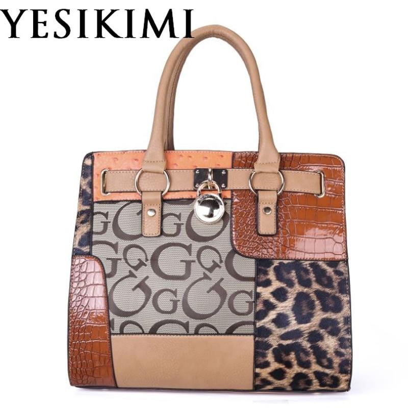 YESIKIMI Women Handbags Alligator Leopard Patchwork Letter G Purse Quality PU Leather Lock Bag Brand Design Saffiano Bag Gift raheja dev g design for reliability isbn 9781118309995