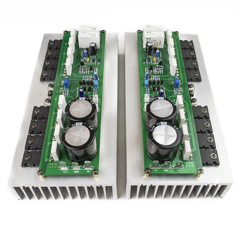 New 2ps PR-800 Class A /Class AB Professional stage hifi amplifier board with heatsink 2.0 home 1000W high power amplifier board assembled mt 150 150w class a ab power amplifier board no heatsink