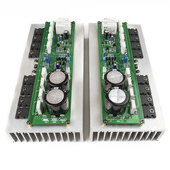 New 2ps PR-800 Class A /Class AB Professional stage hifi amplifier board with heatsink 2.0 home 1000W high power amplifier board 1pair pass am single ended class a power amplifier board 10w with balanced input finished board
