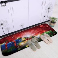 PEIYUAN Digital Printing Cartoon Christmas Gifts and Cottage Flannel Doormat Bedroom Carpets Kitchen Rugs Floor Mats