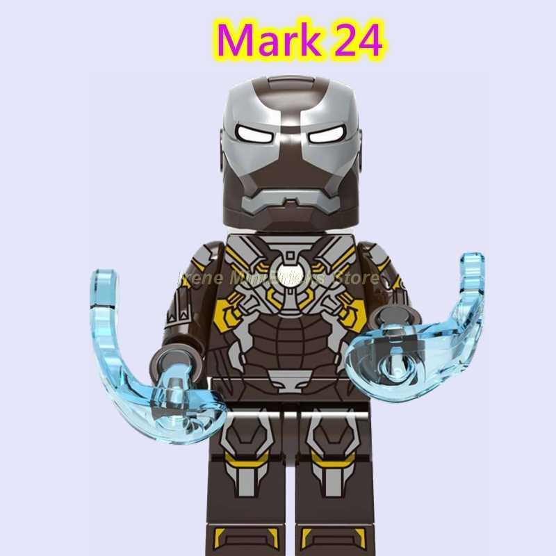 Endgame Marvel Avengers Filme Homem de Ferro Hulkbuster Pepper Potts Mark Tony 5 Thor Hulk Spiderman Building Blocks Brinquedos Para Crianças
