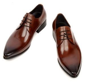 Large Size Brand Brown Black Mens Oxford Shoes Formal