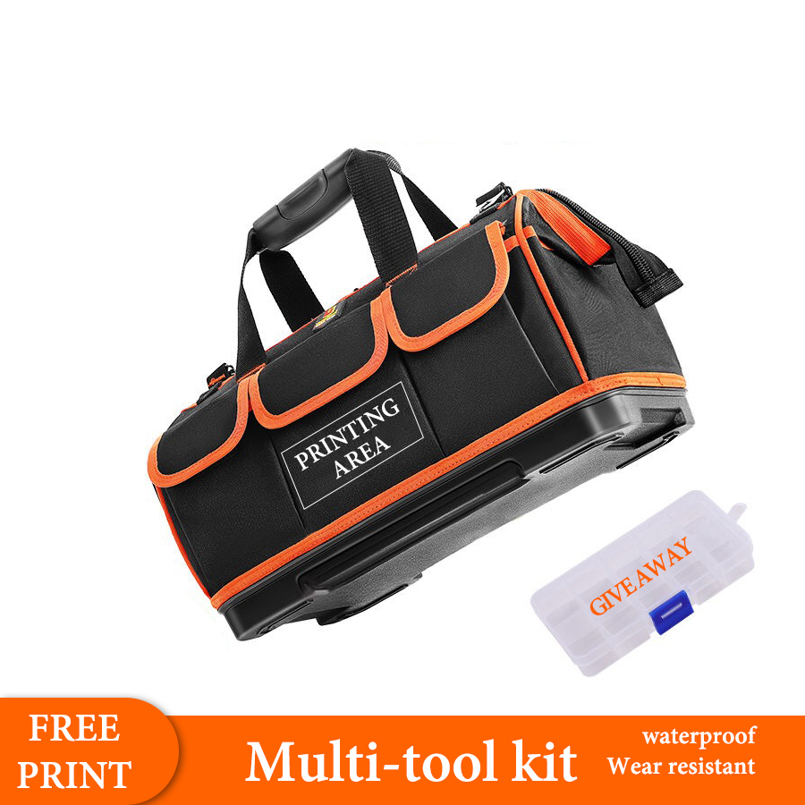 Geoeon 20.9/23.6/26.2 Inches Multi-function Customized Waterproof Toolbag Electrician Repair Special Thickening Shoulder Bag A10