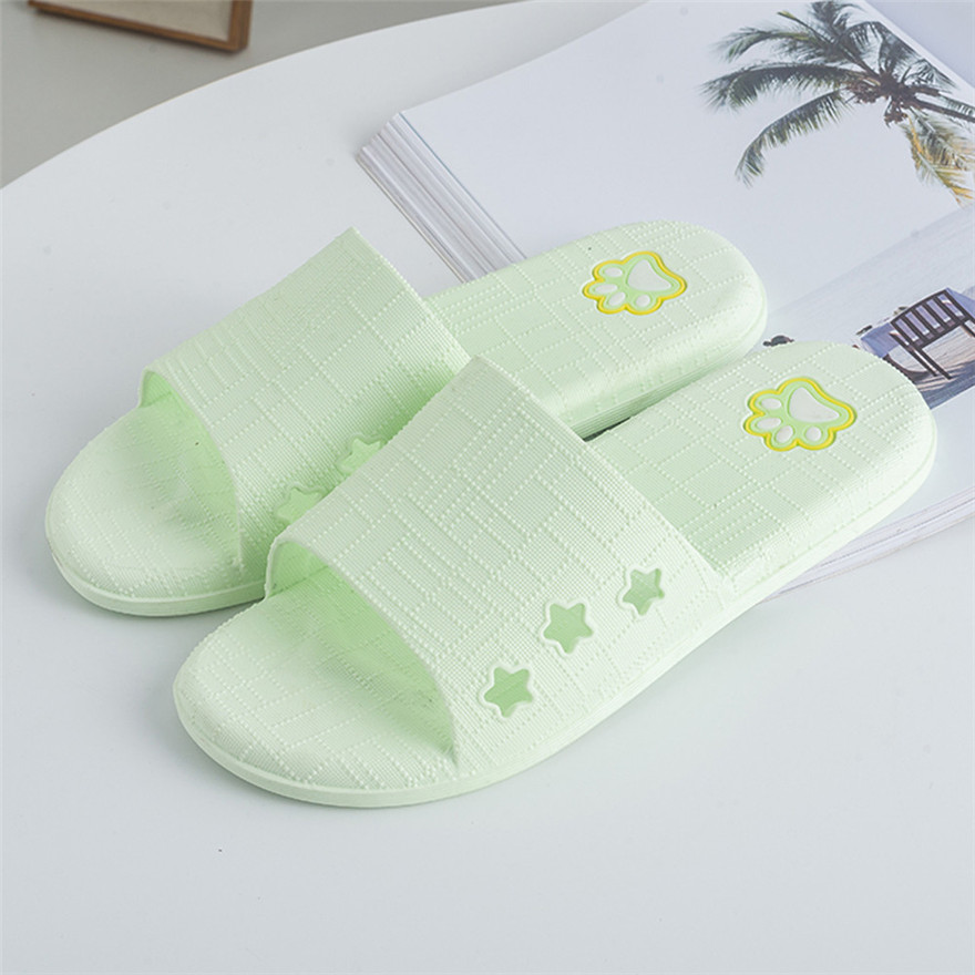 Women Lattice Flat Bath Slippers Summer Sandals Indoor & Outdoor Slippers Womens Summer Footwear chaussures femme zapatos